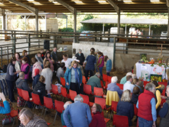 service in the cow barn